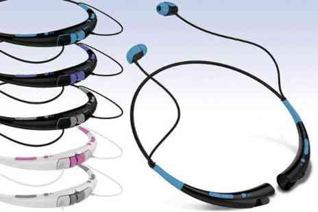Mobile Star LLC - Aduro Amplify neckband Bluetooth headphones with mic  - Save 48%