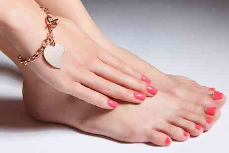 Beauty and Hair - Gel Polish For Fingers and Toes  Plus Brow Tint and Spray Tan - Save 0%