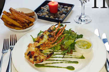 No 11 Brunswick - Half Lobster Thermidor with Fries, Spring Salad, and a Glass of Champagne Each for Two - Save 52%