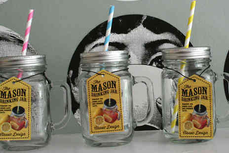 Mooch - Four Mason Glass Jars with Screw on Lids - Save 60%