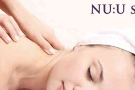 NU:U Laser Lipo - One Hour Full Body Massage With Facial Plus Body Scrub - Save 74%