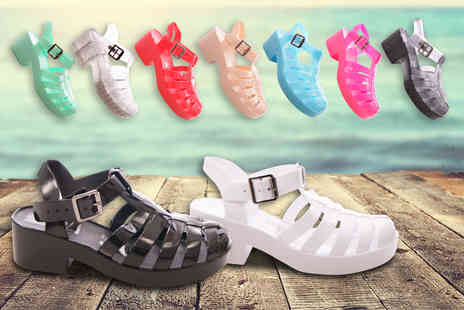 Sole Wish - Pair of waterproof jelly sandals  - Save 75%
