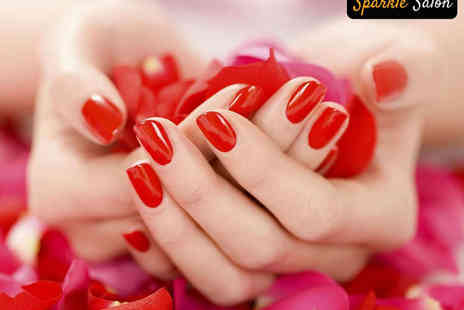 Sparkle Salon - Shellac Manicure or Pedicure - Save 52%
