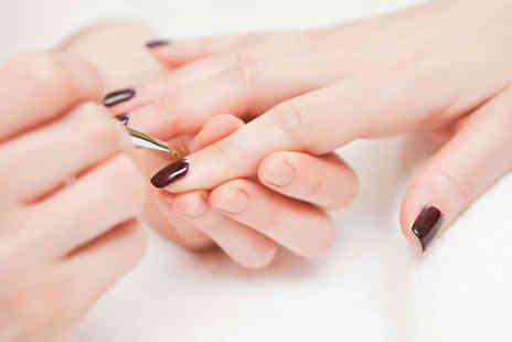 Shaistas Beauty Salon - Shellac Manicure or Pedicure, Six Eyebrow Tint and Thread Sessions Area - Save 50%