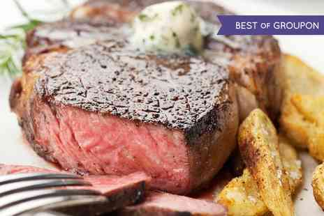 Signature Steakhouse - Steak and Chips With Wine For Two - Save 44%