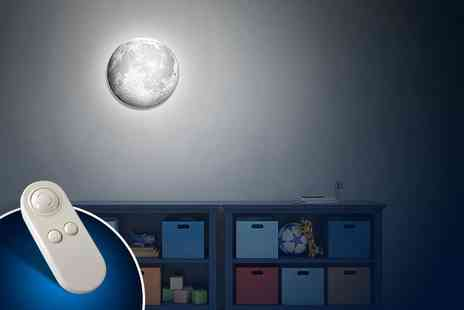 Aceco - Remote controlled Moon in my Room wall mounted night light - Save 63%