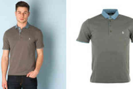 Getthelabel - Mens Original Penguin polka collar polo shirt  plus delivery - Save 0%