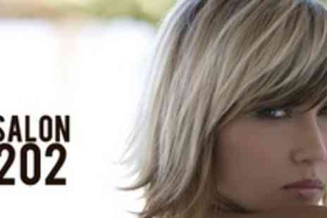 Salon 202 - Choice of Full Head of Highlights or Colour Plus Cut and Blow Dry - Save 68%