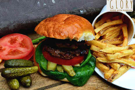 Glory Burgers - Home Made Burger with Speciality Fries for Two - Save 50%