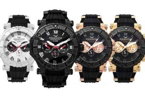 AQS Brand Inc - Aquaswiss Swiss Bolt 5H Mens Watch in Choice of Design With Free Delivery - Save 84%