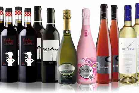 IBERVILLA FINE FOODS - Prosecco and Wine Case of 12 Bottles - Save 62%