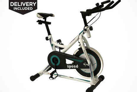 Folding Exercise Bike - BodyTrain Speed Racing Exercise Bike Free Delivery - Save 60%