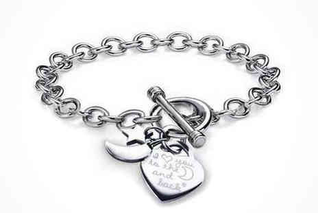 Athena Fashion - I Love You to the Moon and Back Charm Bracelet - Save 0%