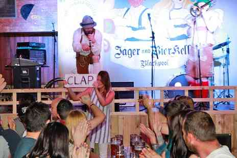 Barvarian Bier and Jager keller -  Meal With Stein of Beer and Oom Pah Show - Save 50%