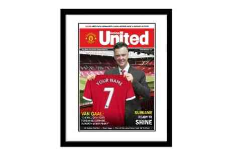 Personalised Newspaper Gifts - Personalised Football Gifts Framed Magazine Cover in Choice of Football Club - Save 52%