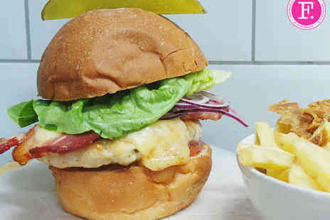 Fancie - Choice of Burger and Fries for Two - Save 53%