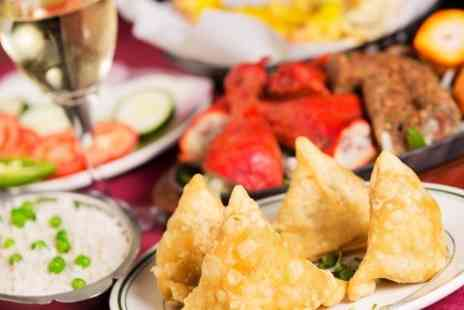 Feast Junction - Two-Course Indian Meal With Side and Drink Each For Two - Save 51%