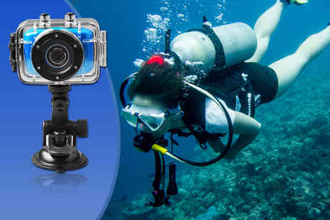 Gizmo Gadgets - Action sports waterproof digital camera and video recorder incuding accessories - Save 57%