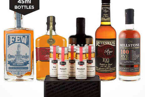 Flaviar - Rye Whiskey Tasting Pack of Five and £10 Voucher, Delivery Included - Save 50%