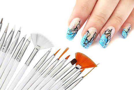 london exchainstore - 20 PC Nail Art Design Kit - Save 64%