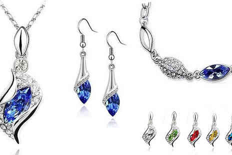 Crazee Trend - Crystal Drop Jewellery Set - Save 90%