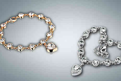 Crazee Trend - Crystal Heart Bracelet - Save 84%