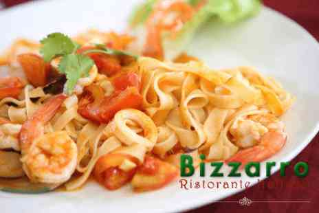 Bizzarro - Three course meal & coffee for two - Save 36%