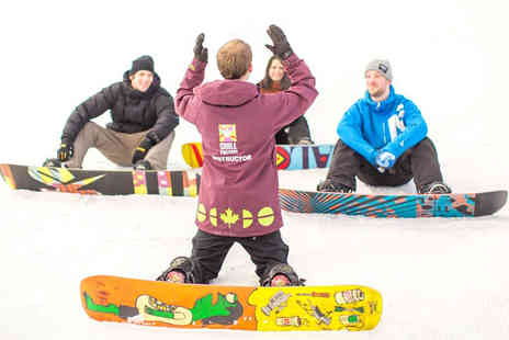 Chill Factore -  1hr 50min beginners ski or snowboard lesson for one  - Save 55%