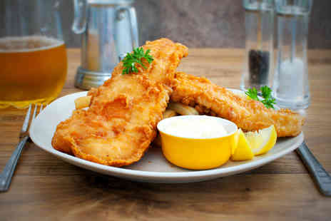 Mansion Restaurant and Wine Bar - Fish and chips meal for 2  - Save 57%