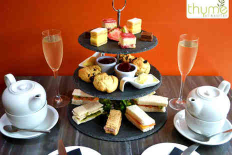Thyme at Bawtry - Afternoon Tea for Two with a Glass of Prosecco Each - Save 56%