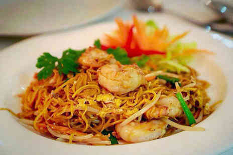 Thai Brasserie Solihull - Starter, Main Course, Rice Dish, Glass of Wine, and Coffee Each for Two  - Save 54%