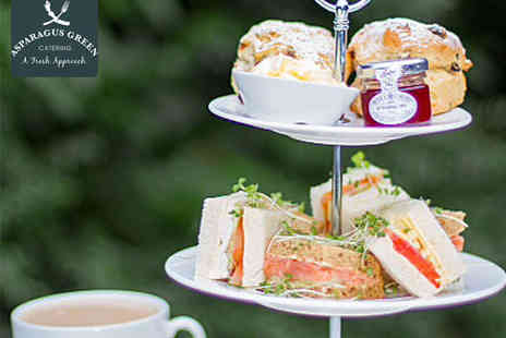 Asparagus Green Catering - Afternoon Tea for Two  - Save 50%