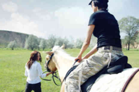 MatchMoor Riding Centre - Private Horse Riding Lesson with One Hour Scenic Trek - Save 51%
