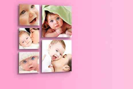1clickprint - Set of five floating photo prints - Save 70%