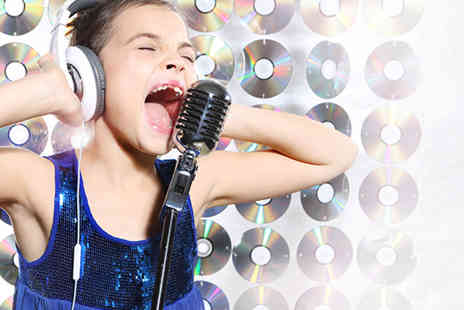 Downcast Studios - One hour recording studio party for up to 10 kids including refreshments and CD  - Save 90%