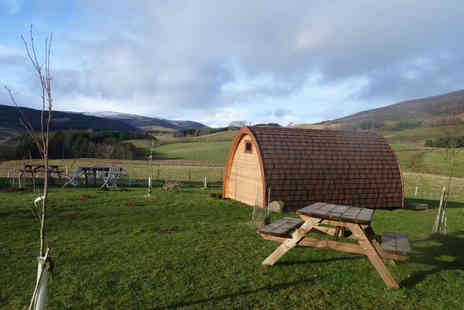Ecocamp Glenshee - Two night luxury glamping break for five  - Save 55%