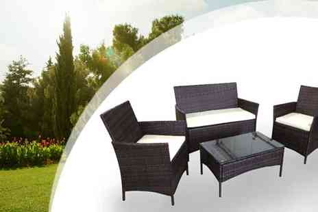 Cotton Life - Four Piece Rattan Chair Set - Save 32%