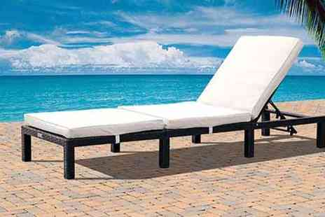 D1 Design & Creative - St Tropez Rattan Sun Lounger - Save 9%