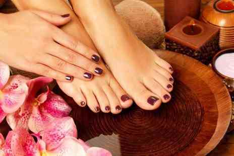 Beauty and Cut - Pamper package including Shellac manicure, Shellac pedicure and a facial   - Save 76%