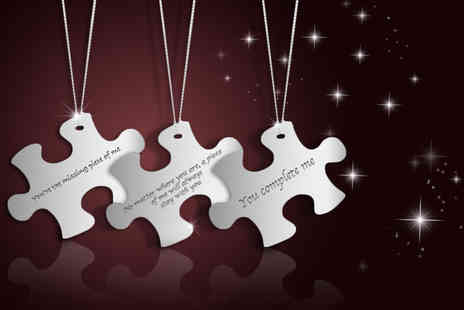British Gem - Sterling silver puzzle quote necklace - Save 86%