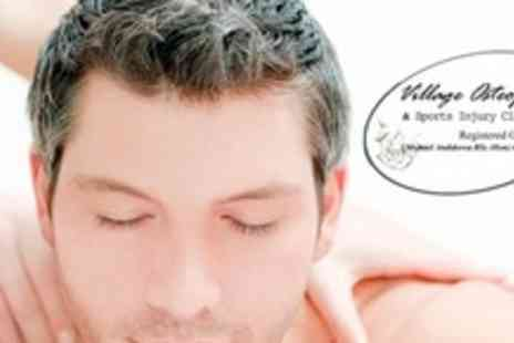Village Osteopathy - One Sessions Including Osteopathic Treatment and Massage - Save 70%