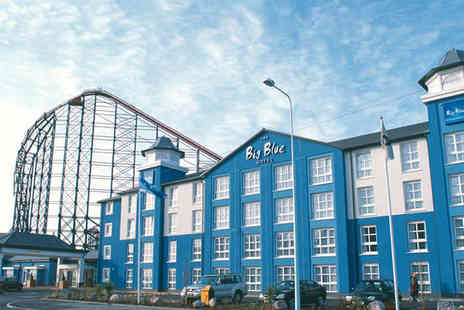 Big Blue Hotel - Two Night Stay for Two with Daily Breakfast, Three Course Dinner on First Evening, One Day Pass to Blackpool Pleasure Beach, and Late Checkout - Save 45%