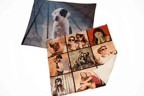 Snuggly Memories - Small Photo Fleece Blanket - Save 50%