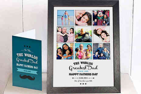 Treasureon the wall - A4 Worlds Greatest Dad Photo Collage and Card - Save 66%