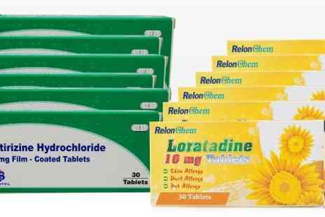 Chemist4U GB - Loratadine or Cetirizine 6 Month Supply Allergy and Hay Fever Tablets - Save 92%