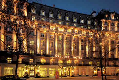 The Waldorf Hilton - Two course meal for two including a glass of Prosecco each  - Save 43%