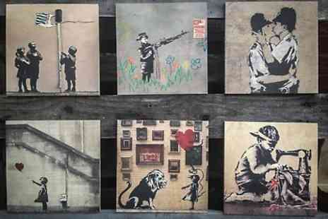 Woodpic - Banksy Inspired Prints on Wood  - Save 75%