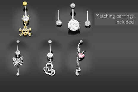 British Gem - Surgical steel belly bar   - Save 70%
