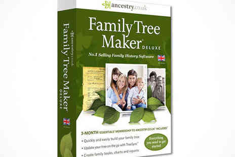 Ancestry - Family Tree Maker®Deluxe 2014 Software Download - Save 50%