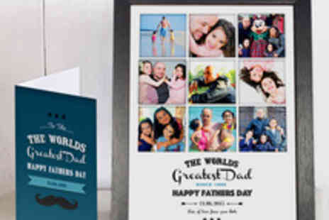 Treasure on the Wall - Fathers Day Photo Collage Print and Personalised Card - Save 59%
